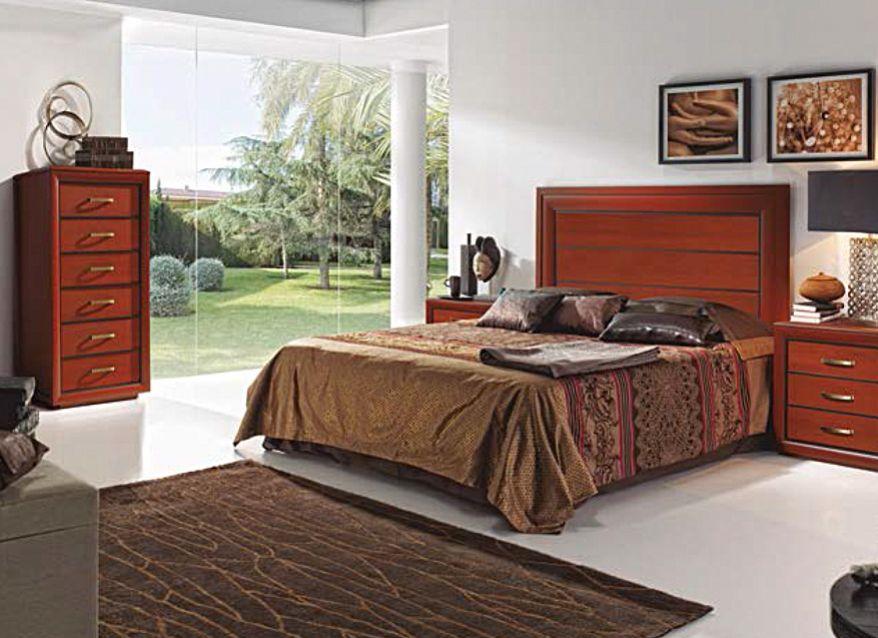 Dormitorio matrimonio cabezal + mesitas