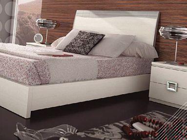 dormitorio matrimonio lacado en blanco