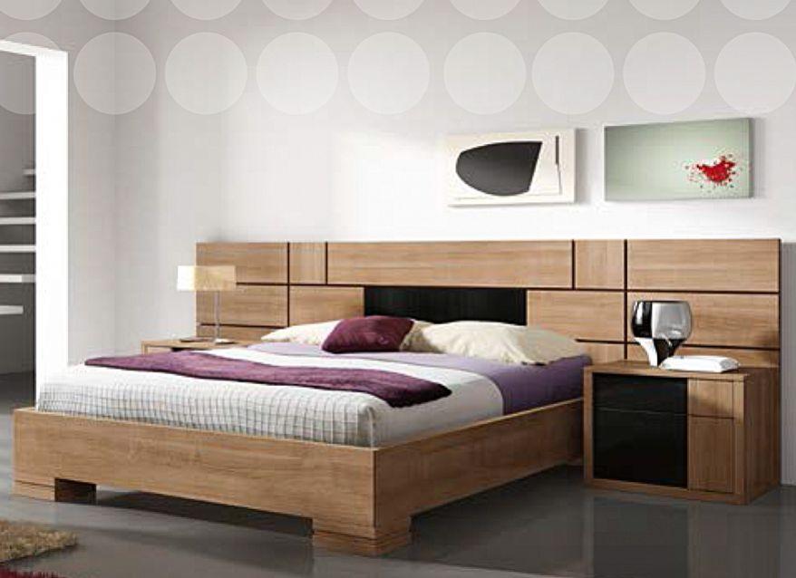 Dormitorio matrimonio madera natural muebles jose antonio for Dormitorios de matrimonio de madera